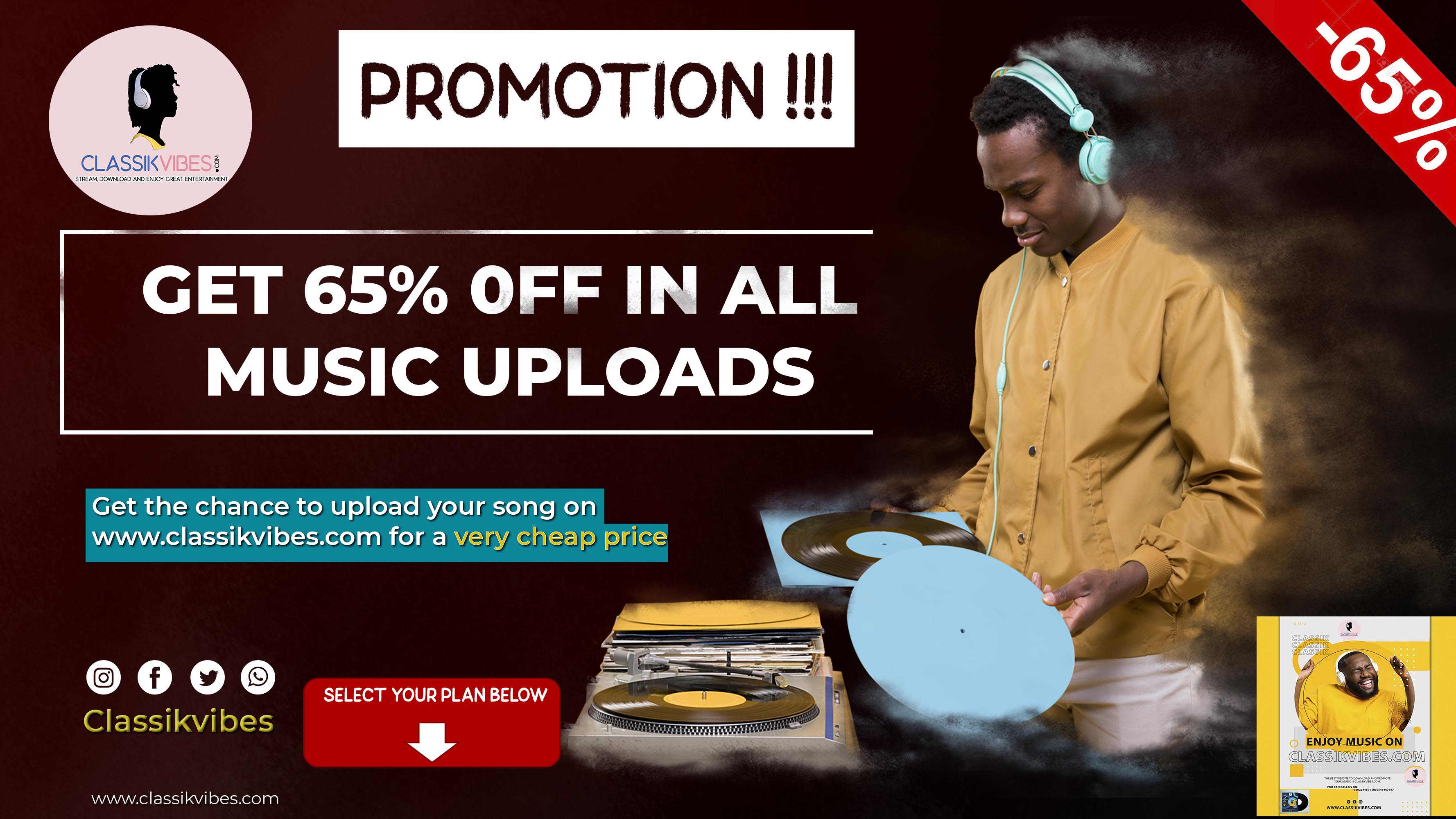 Promote your music on classikvibes for only 30gh