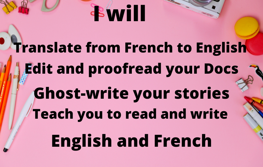 Learn To read and Write French And English