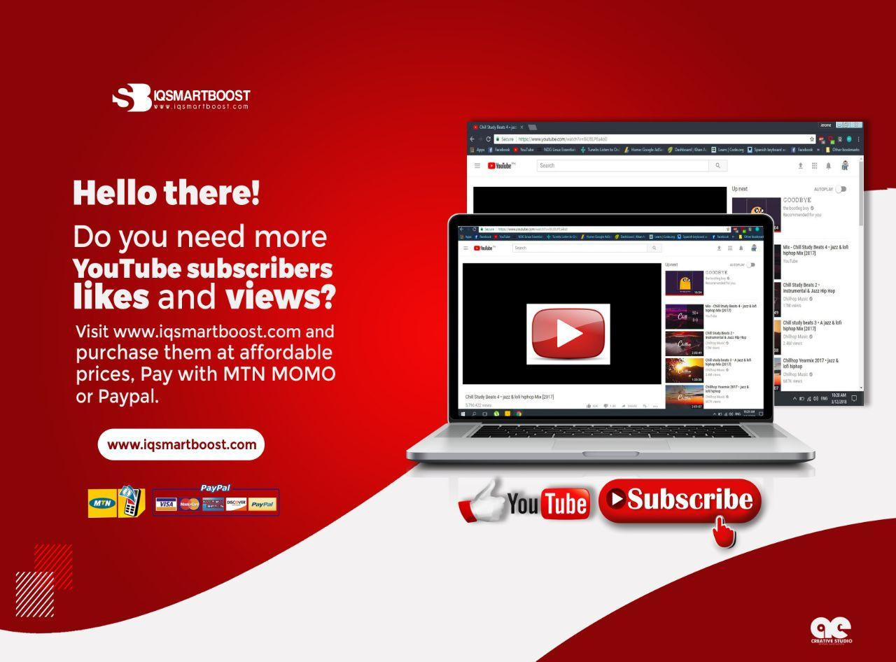 YouTube 1k(1000) Subscribers